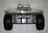A photo of the base of the balancing robot